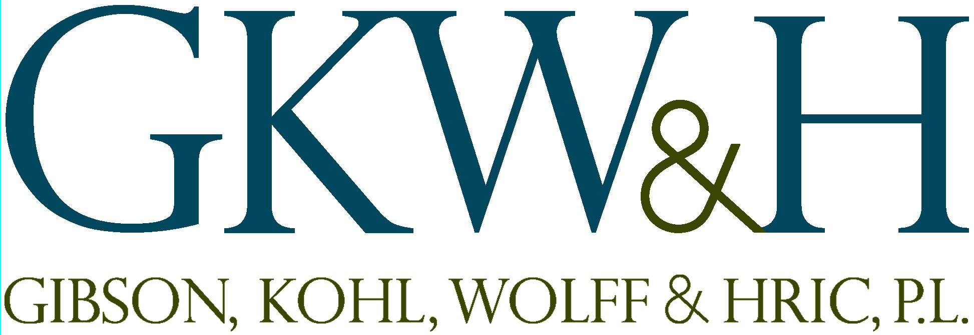 Logo for Gibson, Kohl, Wolff and Hric, P.L.