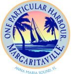 Logo for One Particular Harbour Margaritaville. Anna Maria Sound, FL.